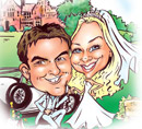 luisa Calvo Wedding Caricatures